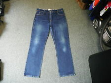 "John Lewis Straight Jeans Size 16 Leg 29"" Faded Dark Blue Ladies Jeans"