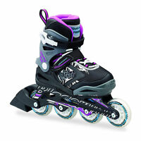 Rollerblade Bladerunner Phoenix Girls Adjustable Skates, 11 thru 1, Black/Purple
