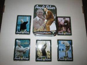 Arnold Palmer 5 metal cards in an embossed metal tin