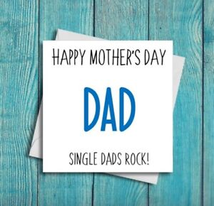 Mothers Day Card For Dad Single Dads Rock Mother's Day Cards