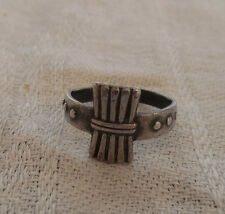 Sterling silver small ring toe ring, size 4