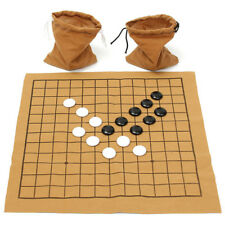 90PCS Gobang Gomoku Go Bang Board Game Set Five in a Row Suede Leather Sheet Toy