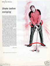 1970 Print Ad of Golden Bear Enterprises w Jack Nicklaus shake before swinging