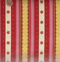 Delighted red pink Riley Blake stripe fabric