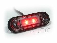 10x LED Rear Marker Light 12V 24V Truck Trailer Red Position Lamp 12 24 Volt