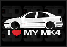 I Heart My MK4 Sticker Love VW Volkswagen Slammed Euro Germany Jetta GLI Sedan