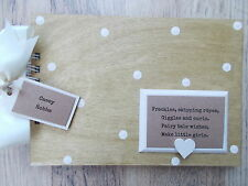 PERSONALISED NEWBORN BABY GIRL WOODEN SCRAPBOOK/PHOTO BOOK /MEMORIES