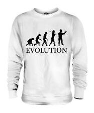 BAUARBEITER EVOLUTION DES MENSCHEN UNISEX SWEATER PULLOVER PULLI HERREN DAMEN