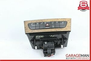 03-09 Mercedes E350 E500 CLS550 Hazard Light Door Lock Control Switch Walnut OEM