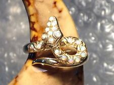 9ct YELLOW GOLD OPAL SET SNAKE RING - SIZE M - Ref 1705.10