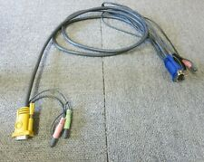 More details for kvm switch cable vga 15 pin male & audio to vga 15 pin male & audio/usb