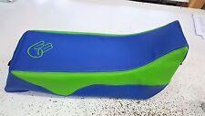 YAMAHA BANSHEE  seat cover SHOCKER LOGO  LIME Grn & blue top & sides