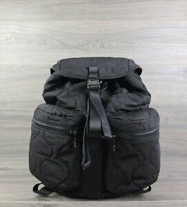 Michael Kors Backpack Large Nylon Kent Sport Zip Book Bag (Black)