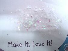 2 Gram Bag IRIDESCENT SNOW GLITTER CONFETTI XMAS CRAFT Card Making Snow flakes