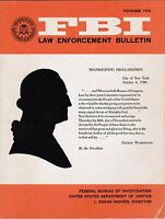 FBI Law Enforcement Bulletin November 1970