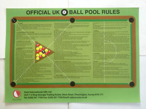 8 BALL ENGLISH POOL RULES From ***SUPERPOOL UK***