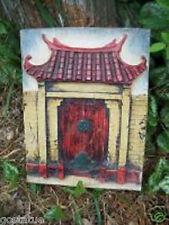 Asian fairy door mold  concrete plaster poly plastic casting mold