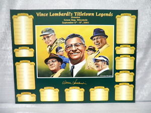 Vince Lombardi Green Bay Packers Titletown Legends NFL Football Lithograph
