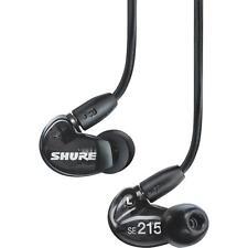 Shure SE215K Black In-Ear Headphones Monitor Earphones Professional Earbuds New