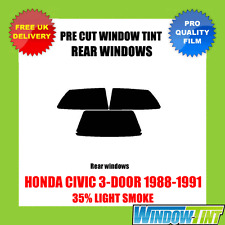 HONDA CIVIC 3-DOOR 1988-1991 35% LIGHT REAR PRE CUT WINDOW TINT