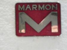 MARMON  TRUCK LOGO PIN - BABGE SIZE 7/8 IN. HARD FIRED PORCELAIN ENAMEL,