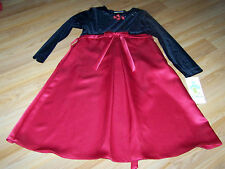 Girls Size 8 1/2 8.5 Rare Editions Red Black Christmas Holiday Dress NWT New $60