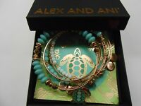 Alex and Ani Go with the Flow, Set of 5 Bracelet Shiny Rose NWTBC