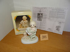 Precious Moments Baby's First Meal Porcelain Figurine 524077 with Original Box