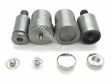 12.5mm S Spring Press Stud Setting Tool Die Set 4 Part For Green Hand Machine