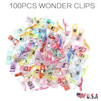100x Wonder Clips for Fabric Quilting Craft Patchwork Knitting Sewing Crochet US