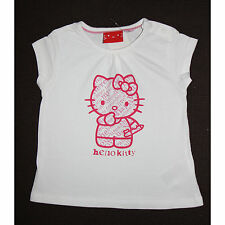 SANRIO t-shirt manches courtes HELLO KITTY blanc 5-6 ans (110/116) NEUF