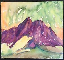 Purple Mountain.Expressionist Painting. Italian Dolomites.Tyrol. Hermann Brunner