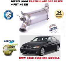 Per BMW 316D 318D E90 2005 - > NUOVO DPF DIESEL fuliggine Filtro antiparticolato + KIT