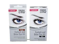 Swiss-O-Par Swissopar eye brow and eyelash dye tint kit choose black or brown