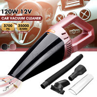 12V 120W Car Vacuum Cleaner 4000PA Corded HEPA Washable Handheld For Dry
