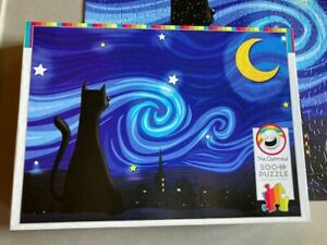Cobble Hill Mrowwy Night 500 piece Jigsaw Puzzle The Oatmeal used once