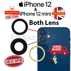 iPhone 12 / 12 Mini Replacement Rear Back GLASS Camera Lens Cover with Adhesive