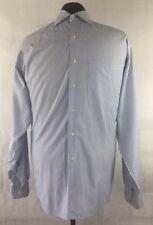 Joseph Abboud Mens  Blue and White Stripe Dress Shirt Size 17-36 Long Sleeve