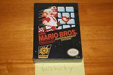 Super Mario Bros. (Nintendo NES) NEW SEALED H-SEAM, RARE BLACK BOX CLASSIC!