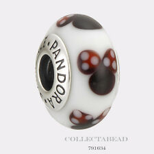 Authentic Pandora Sterling Silver Disney Classic Minnie Murano Glass Bead 791634
