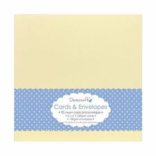 "10x Cream 6""x6"" Quality Grade Kraft Card Blanks + Envelopes (Dovecraft)"