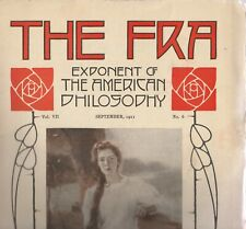 "THE FRA MAGAZINE""EXPONENT OF THE AMERICAN PHILOSOPHY,"" SEPTEMBER 1911"