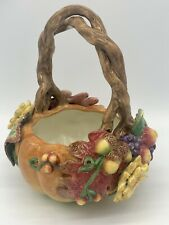 "Fitz & Floyd FF Autumn Splendor Basket Fall Leaves 58/307 8.5"" x 7.5 """