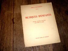 musiques d'enfants 12 pièces faciles pour piano à 2 mains Op.65 Prokofieff 1936