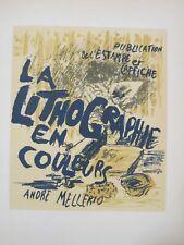 Lithographies Mourlot Bonnard editeur Sauret 1952