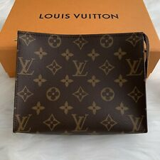 LOUIS VUITTON LV TOILETRY 19 MONOGRAM GOLD HARDWARE BAG HANDBAG PURSE CLUTCH
