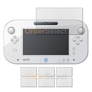"6X NEW Ultra Clear HD LCD Screen Protector for Nintendo Wii U GamePad 6.2"" HOT!"