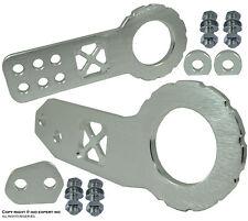 "JDM 2"" Billet Aluminum Racing Front Rear Tow Hook Kit CNC Anodized Silver W567"