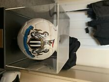 More details for newcastle united hand 1969 fair cup winners hand signed football in case