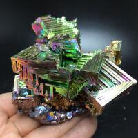 672g Natural Rainbow Bismuth Metal Ingot Crystal Geode mineral specimen Reiki